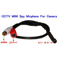 Free Shipping  CCTV Mic Microphone For Security Camera/ DVR System Surveillance Mic