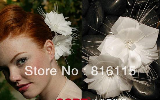 2013 new products distinctive feather and handcraft flower hair accessary(China (Mainland))
