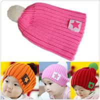 winter warm cutecandy  knitted babys hat kids cap