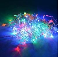 10M 100leds Multi-color Christmas Wedding Decoration Light led String light 8 FUNCTION Party 110-220V 5PCS