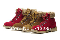 Free Shipping 2013 Cotton-padded Hiking Short Boots For Male Winter Snow Ankle Boots Fashion Outdoor Winter Warm Men Women Boots
