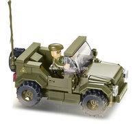 Building Block Set SlubanB0296 Army-hummer car Model Enlighten Construction Brick Toy Educational Toy for Children