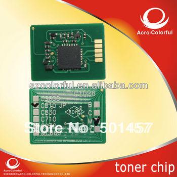 Refilled for OKI C810/830 laser printer cartridge spare parts compatible color toner reset Chip for OKI C830
