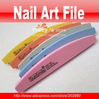 FreeShipping Washable Good Quality Meniscus Style Korea Nail File 100/180 Art Manicure Kits 50 Pcs/Lot Wholesale Sunshine Buffer