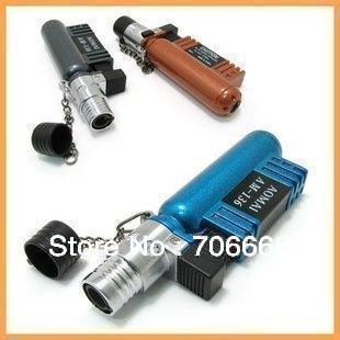 5pcs/lot Colorful Windproof Hot Jet Torch Lighter Flame Cigarette Cigar Butane Lighter