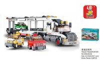 Building Block Set SLuBanM38-B0339 Simulation city/track transport vehicle 638PCS,3D Block Model,Educational