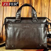 Zefer hot-selling fashion commercial laptop bag / superior PU male's shoulder bag or handbag briefcase /Free shipping