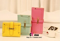 2012 new fashion cool rivet drawstring type vertical version for women's long and short design wallet coin purse FREE SHIPPING