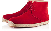 Red bottom men's shoes Cadaques Red Suede Leather Men fashion boots Free shipping Wholesale + Retail