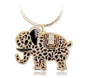 Min.order is $15 (mix order)Fashion Vintage Elephant  Pendant  Chain Necklace Sweater Necklaces Hot Sell