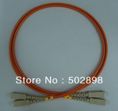 Free Shipping LSZH Fiber Optic Patch cord cable jumper SC-SC Multimode 62.5/125 OM1 Patchcord Duplex Orange 3mm 10M(China (Mainland))