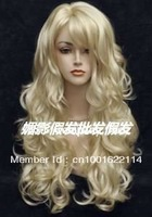 2013 newest gold big wave of holiday hair wig