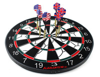 12 Inch Professional Dart Board Set Dart Flock Printing Double Faced Dartboard And 6 Darts For Free