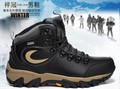 Free shipping to the world.Original Men&#39;s WaterProof high hiking boot leather Ourdoor shoes Add wool Mens snow walking shoes