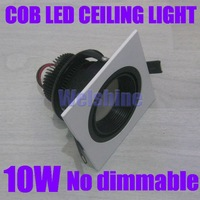 CE/RoHS,AC86~265V high power10W 900~1100lm,square shape,10w COB led ceiling lamp