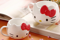 Hello kitty HELLO KITTY cup milk cup ceramic cup red +Free shipping