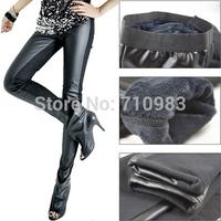 Free shipping (1 pieces/lot)missfeel flagship of quality Winter thermal plus bamboo fiber grey velvet black legging warm pants