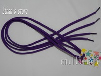 FREE SHIPPING 100% polyester men's dark purple  round shape shoelaces wholesalers