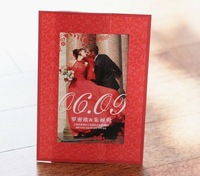 The Red Floral Frame Wedding Invitation (Set of 50) Printable & Customizable Colorful Photo Wholesale Free Shipping
