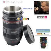 2013 Stainless Camera lens 1:1 EF 24-70mm Zoom Lens coffee Cup drink water Tea Mugs Food Grade plastic Milk cups Free ship