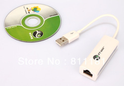 QUALITY USB 2.0 LAN TO FAST ETHERNET ADAPTER FOR Apple Mac Andriod Tablet(China (Mainland))