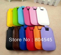 50 PCS Free shipping High quality  Flap Flip Leather Skin Cover Case For Apple iPhone 3G 3GS 4 4G 4S for HTC F32