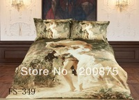 Free Shipping--KING SIZE--40s 100% Cotton Romantic--oil painting bedding set /bed linen/4pcs comforter sets/bed sheets