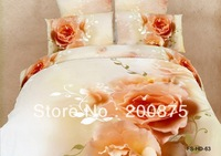 Free Shipping--KING SIZE--40s 100% Cotton Promise FS063--oil painting bedding set /bed linen/4pcs comforter sets/bed sheets