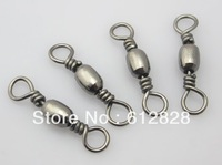 500pcs/lot Free Shipping Fish tackle Barrel Bearing Swivel, Solid Rings Fishing Lures Rolling Snap Connector #6