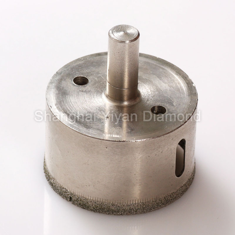 "27mm 1-1/16""cheap electroplated diamond hole saw/drill bit used in glass glass bottles marbles tile granite(China (Mainland))"