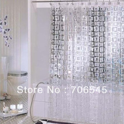 180x180cm Clear PVC Bathroom Shower Curtain Translucence Shower Curtain(China (Mainland))