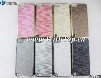 For iPod Touch 5 Plated Bling Hard Chrome Back Case Cover With 100pcs /lot.Manufacturers selling price.