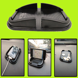 Soft Car Auto Skidproof Pad Mat Holder Stand For iPhone 3G 4 4S all Cellphone Black(China (Mainland))