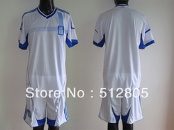 2012-13 Greece Home White Soccer Jersey Adult Soccer Uniforms Wholesale(China (Mainland))