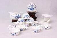 14pcs/set Porcelain Tea set, blue and white ceramic tea set