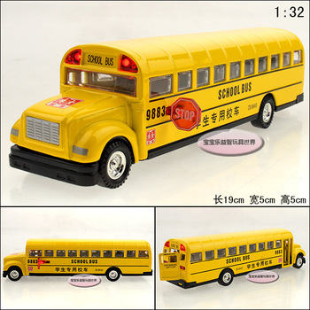 Free  shipping Classic school bus exquisite alloy acoustooptical alloy car model
