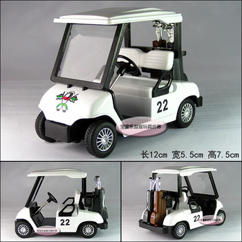Free  shipping Soft world kinsfun series golf ball car white alloy car model