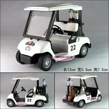 Free  shipping Soft world kinsfun series golf ball car white alloy car model