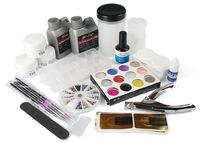 New ! FULL Acrylic Nail Art Professional Set Liquid + Powder Tips Acrylic Kits c499