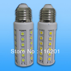 Free shipping 20pcs/lot led corn bulb E27 8W with 45pcs SMD 5050 700lm high brightness =60W incandescant lamp rohs ce(China (Mainland))