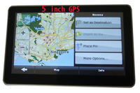 worldwide free  maps 5 inch GPS Navigator with MP3 MP4 FM 4GB memory and map car gps navigation