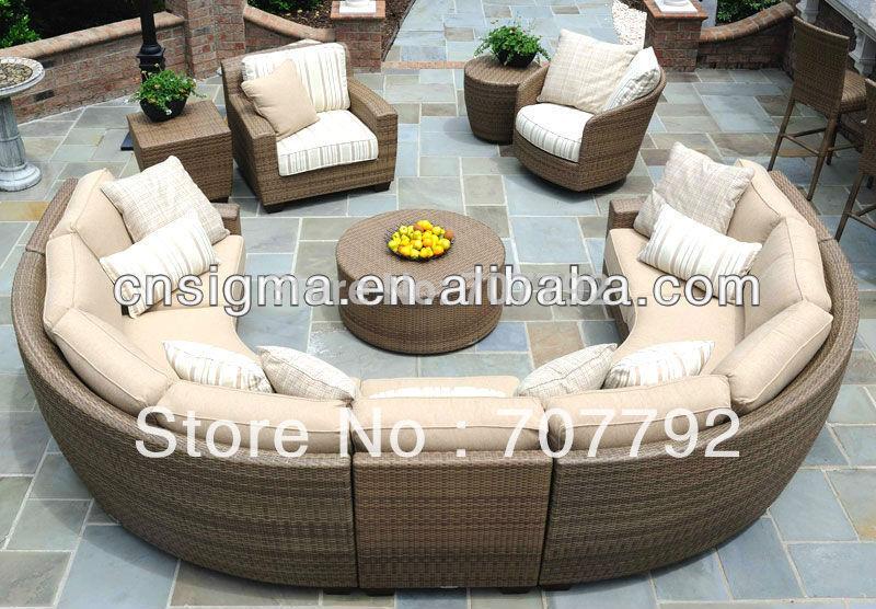 Round Design Rattan Sofa Set Picture In Rattan Wicker Furniture