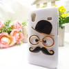 Chaplin Sexy Gentleman 3D Mustache Beard Glasses Hat Hard Back Case Cover for Samsung Galaxy Ace S5830 Case