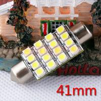 10pcs  41mm 16 SMD Pure White Dome Festoon 16 LED Car Light Bulb Lamp Interior Lights C5W Led