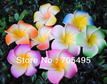 100pcs/lot Free Shipping Seashore Decoration Plumeria Hawaiian Foam Frangipani Flower DIY Hair Accessory