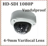 Vandalproof IR Dome camera WDR  Full HD SDI 1080P  4-9mm Varifocal lens  outdoor infrared video surveillance camera