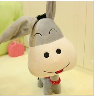 FREE SHIPPING 60cm high quality cute cartoon figure smiling donkey plush toy doll for baby soft plush toy gift 1pcs(China (Mainland))