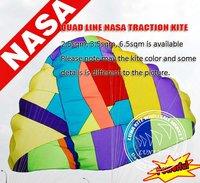 3.5sqm  quad line kite parafoil power kite,Power huge,So cool LK017