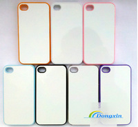 20pcs/lot Sublimation Cover Case For 4/4s (Plastic material with coated pure white aluminium sheet) Free Shipping