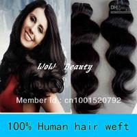 "WoW  Beauty:12""-30""Brazilian virgin remy hair extension,#1 jet black, body wave 100g/pc 3pcs/lot,DHL free ship+factory  price"